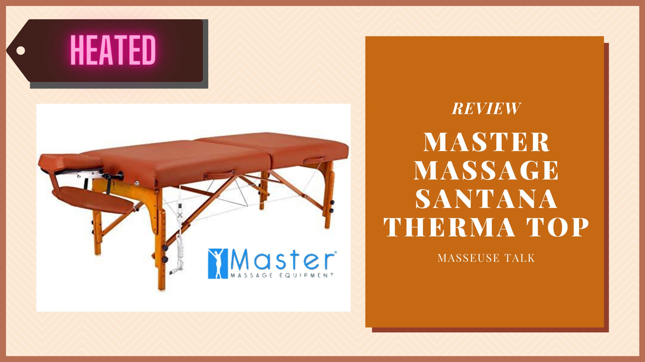 Master Massage Therma Top Santana Portable Massage Table