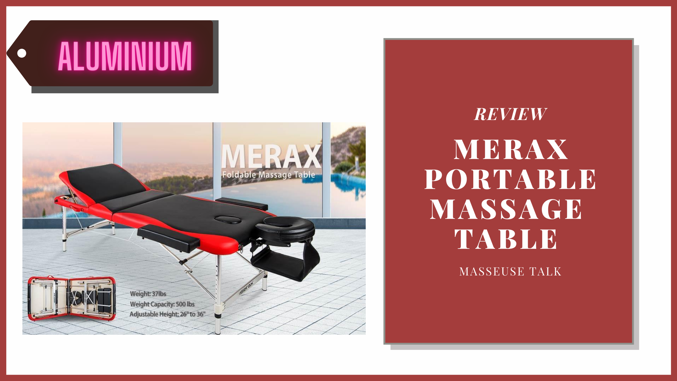 Merax Aluminium Portable Massage Table