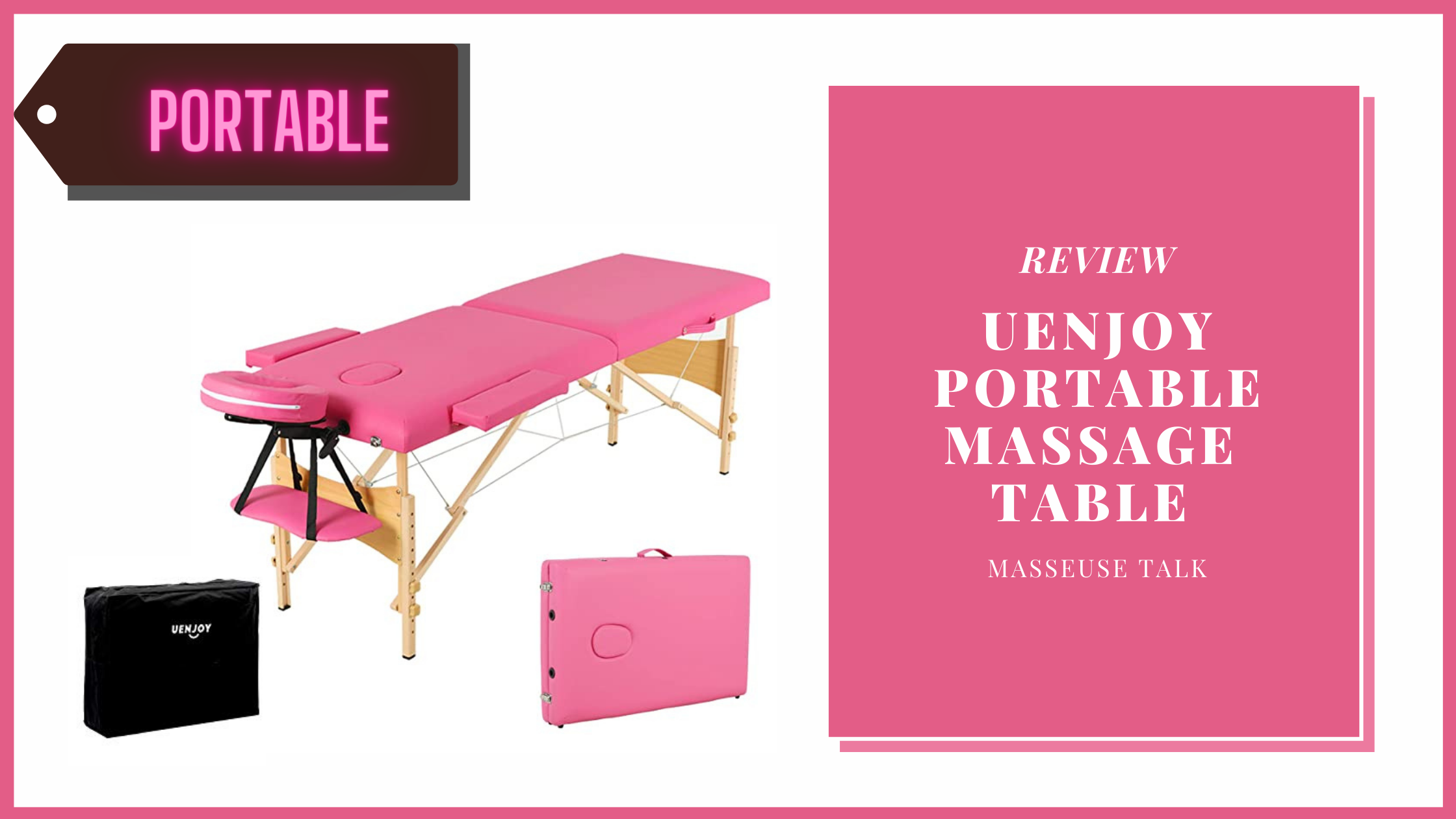 Uenjoy Folding Massage Table