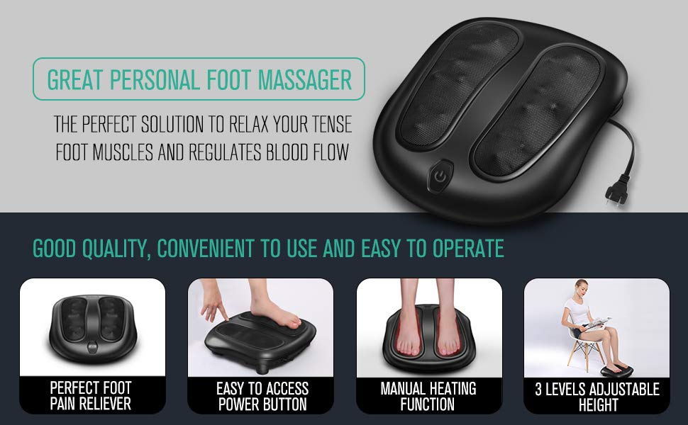 nekteck foot massager with heat