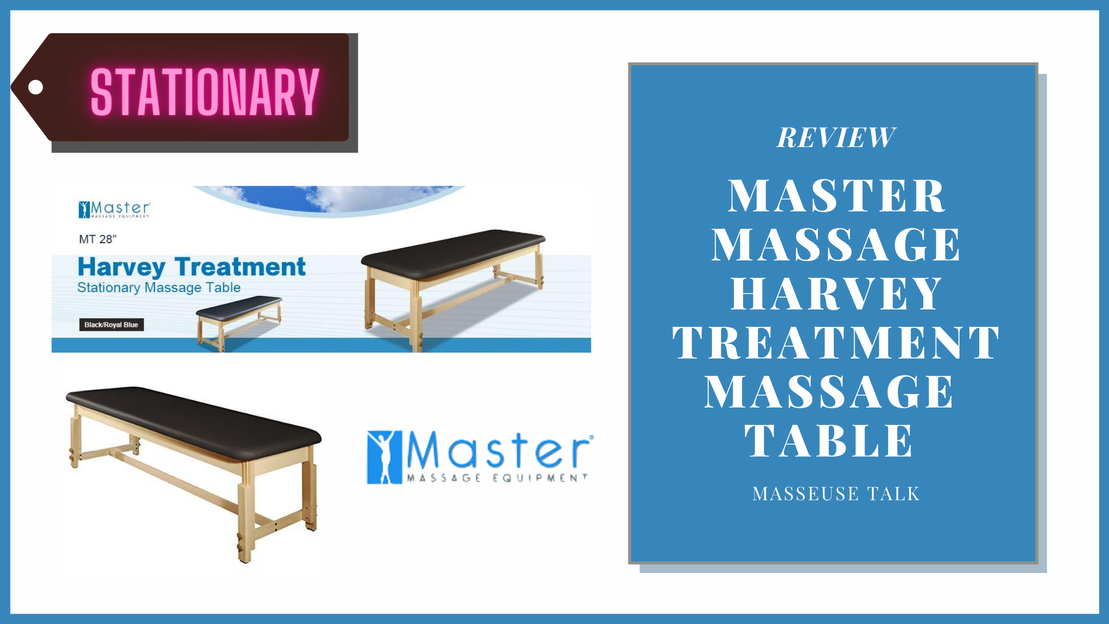 MT Harvey Treatment Stationary Massage Table