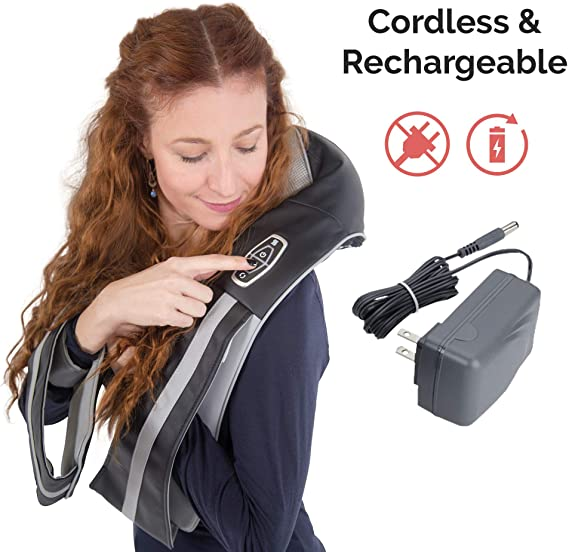 cordless and rechargeable neck massager