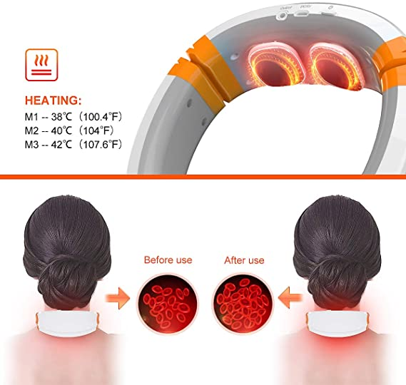 OSITO neck massager heat settings