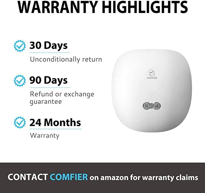 Comfier warranty